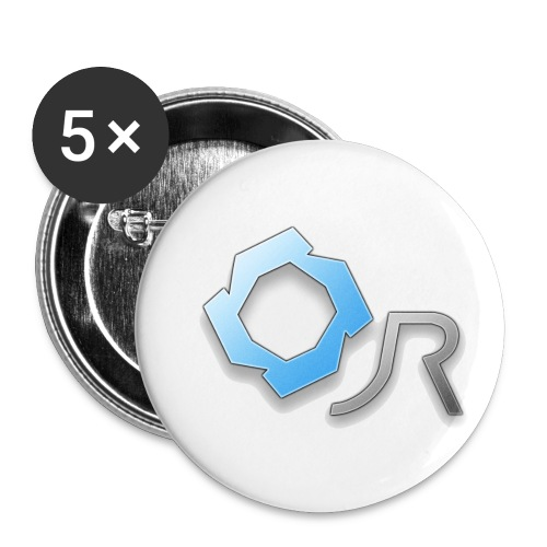 Original JR Logo - Buttons small 1''/25 mm (5-pack)