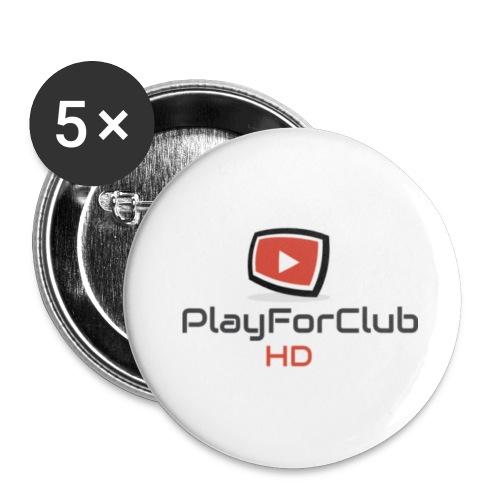 PlayForClub HD - Lot de 5 petits badges (25 mm)