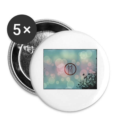 Llama in a circle - Buttons small 1''/25 mm (5-pack)