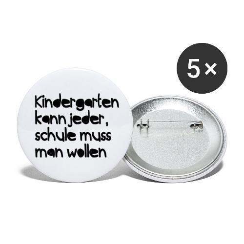 Kindergarten (Spruch) - Buttons klein 25 mm (5er Pack)