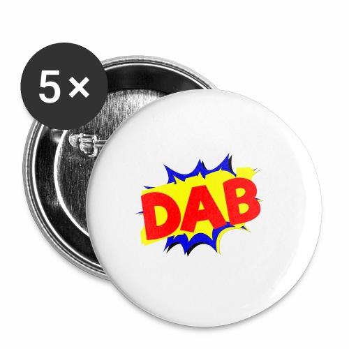 Dab fumetto logo - Confezione da 5 spille piccole (25 mm)