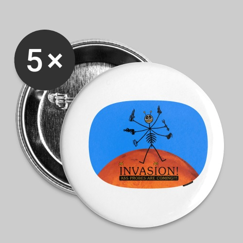 VJocys Invasion Mars - Buttons small 1''/25 mm (5-pack)