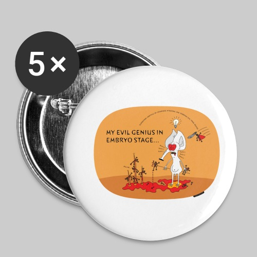 VJocys Evil - Buttons small 1''/25 mm (5-pack)