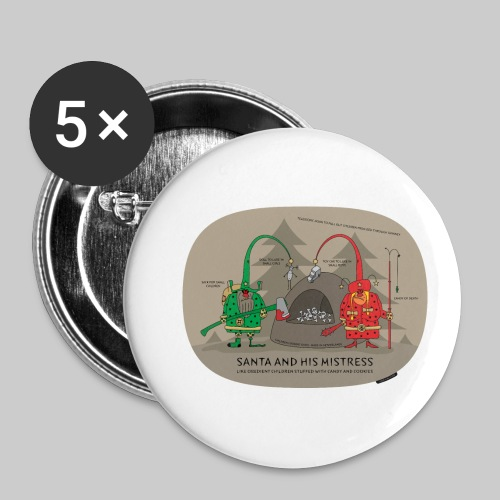 VJocys Santa Green - Buttons small 1''/25 mm (5-pack)