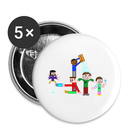 Water Fight - Buttons small 1''/25 mm (5-pack)