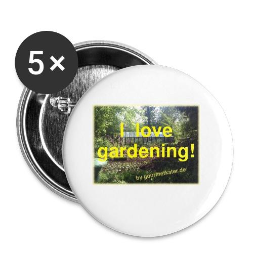 I love gardening - Garten - Buttons klein 25 mm