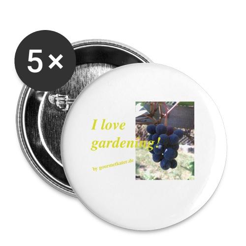 Weintraube - I love gardening - Buttons klein 25 mm