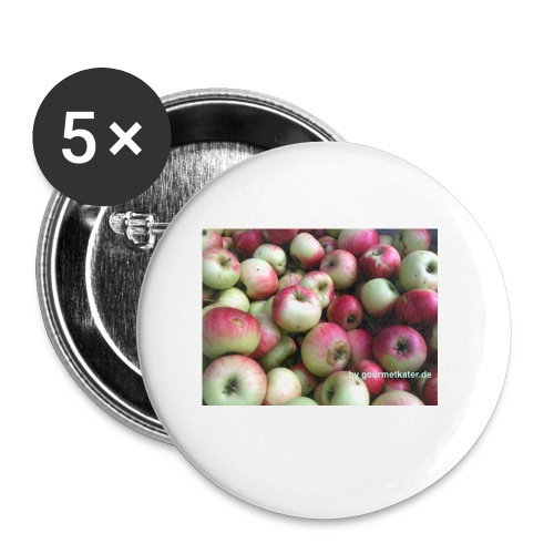 Äpfel - Buttons klein 25 mm (5er Pack)