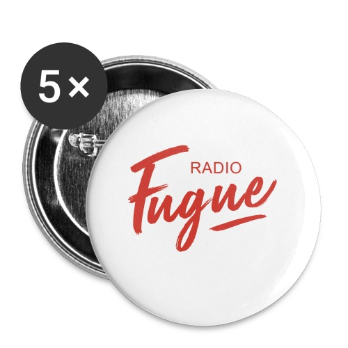 Radio Fugue Red - Badge petit 25 mm