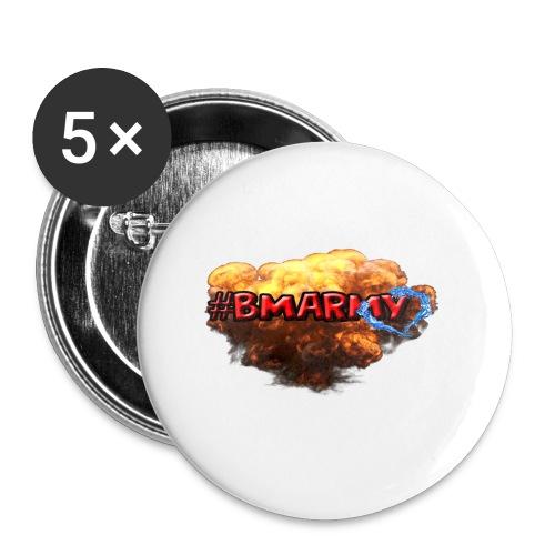 Pixelbmshop123123 - Små knappar 25 mm (5-pack)