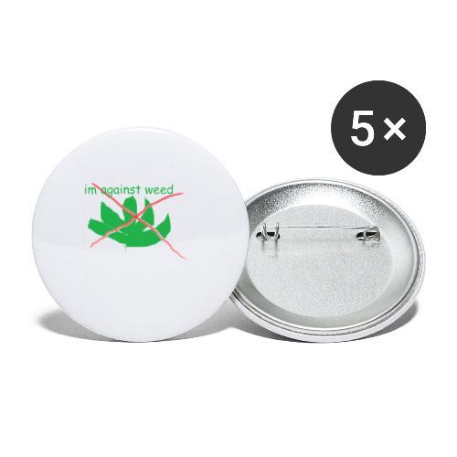 im against weed - Rintamerkit pienet 25 mm (5kpl pakkauksessa)