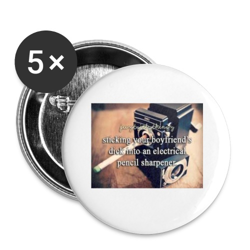 45492e8dfe105cfa0a4a7d1596676fb3 justgirlythings - Buttons/Badges lille, 25 mm (5-pack)