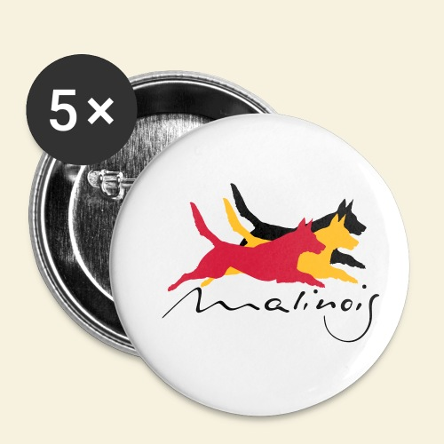 Malinois_belgian_color - Buttons klein 25 mm (5er Pack)