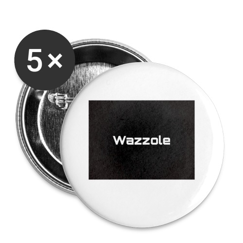 Wazzole plain blk back - Buttons small 1''/25 mm (5-pack)