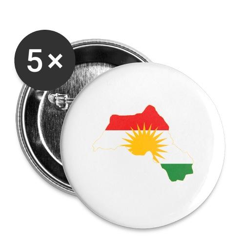 Kurdistan Flag Map - Buttons klein 25 mm (5er Pack)