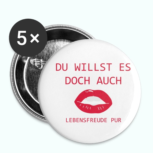 YOU WANT IT BUT ALSO - Buttons small 1''/25 mm (5-pack)