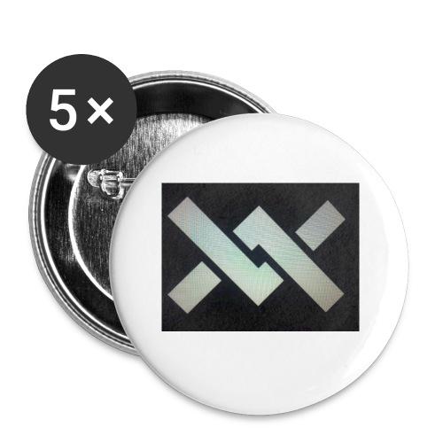 Original Movement Mens black t-shirt - Buttons small 1''/25 mm (5-pack)