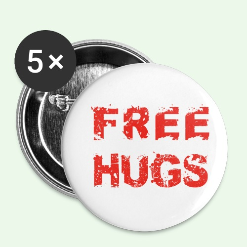 Free Hugs // Flirten // T-Shirt - Buttons klein 25 mm (5er Pack)