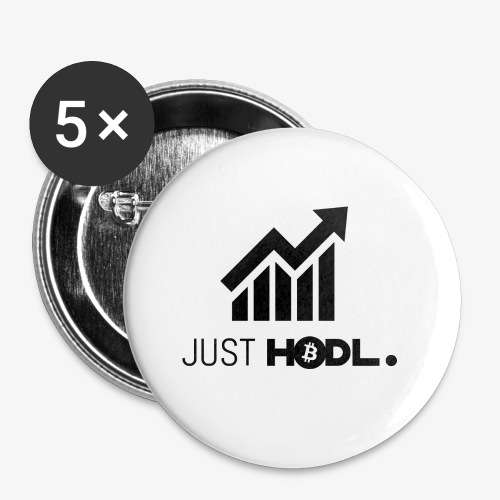 HODL-btc-just-black - Buttons small 1''/25 mm (5-pack)