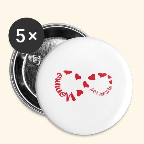 Mamma per Sempre - Confezione da 5 spille piccole (25 mm)