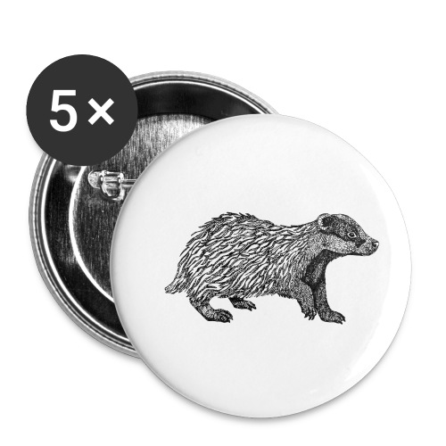 I love Badgers - Buttons small 25 mm