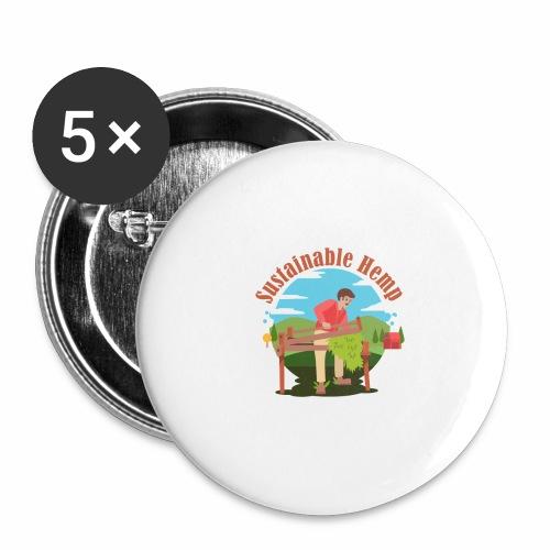 Cáñamo Sustentable en Inglés (Sustainable Hemp) - Paquete de 5 chapas pequeñas (25 mm)