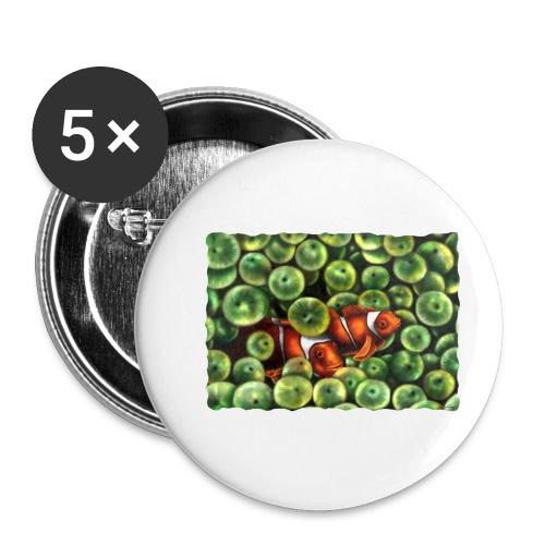 Pesci Pagliaccio - Confezione da 5 spille piccole (25 mm)