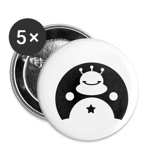 TOTALLY DARE alien - Buttons small 1''/25 mm (5-pack)