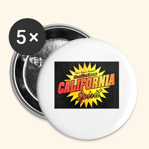 California Spirit Radioshow Vintage - Lot de 5 petits badges (25 mm)