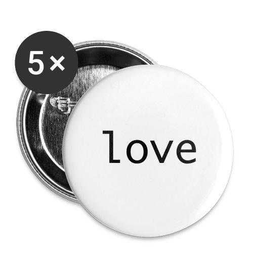 love - Små knappar 25 mm (5-pack)