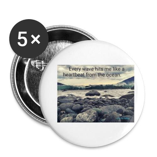 Oceanheart - Liten pin 25 mm (5-er pakke)