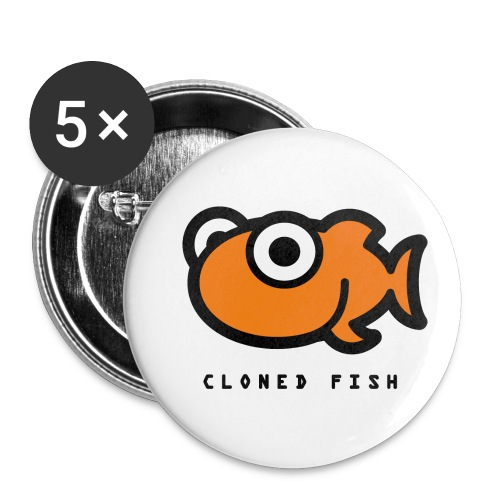 Cloned Fish - Buttons small 1''/25 mm (5-pack)