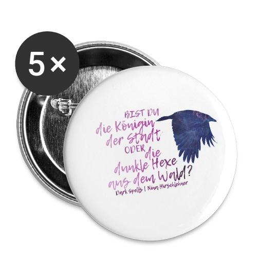 Dark Spells-Krähe - Buttons klein 25 mm (5er Pack)