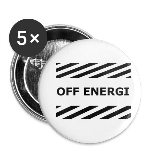 OFF ENERGI officiel merch - Små knappar 25 mm (5-pack)