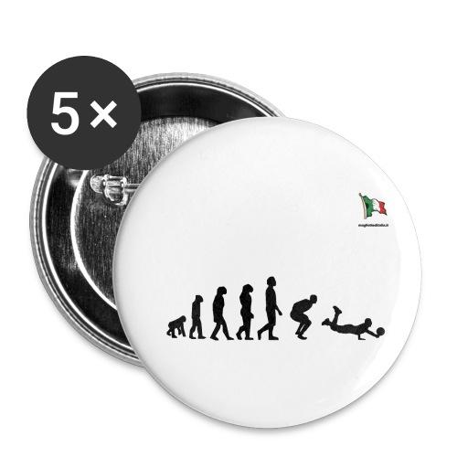 evolution volley defense - Confezione da 5 spille piccole (25 mm)