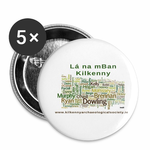 Lá na mban Kilkenny Wordle - Buttons small 1''/25 mm (5-pack)