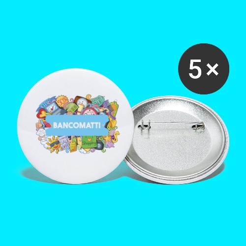 Bancomatti DOODLE 1 - Confezione da 5 spille piccole (25 mm)