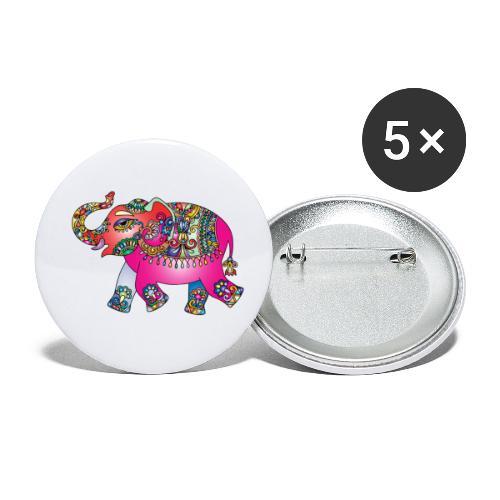 Elefant - Buttons klein 25 mm (5er Pack)