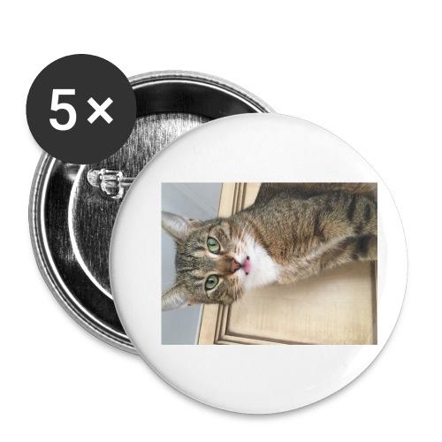 Kotek - Przypinka mała 25 mm (pakiet 5 szt.)