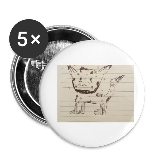 Wolf - Buttons small 1''/25 mm (5-pack)