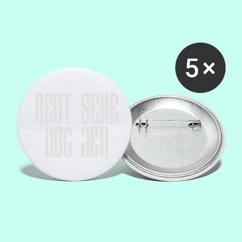 Jackendoggenschrift - Buttons klein 25 mm (5er Pack)