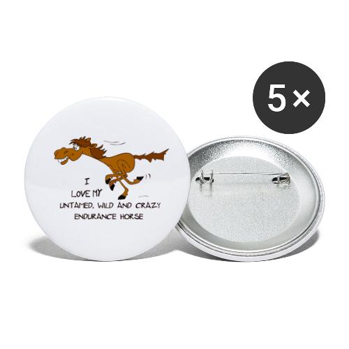 Endurance Horse - Buttons klein 25 mm (5er Pack)