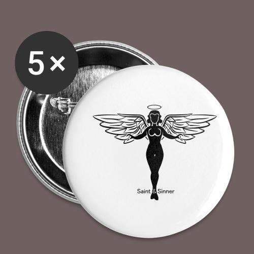 GBIGBO zjebeezjeboo - Rock - Saint [FlexPrint] - Lot de 5 petits badges (25 mm)