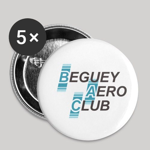 logo Le B.A.C. 2018 bordure blanche - Lot de 5 petits badges (25 mm)