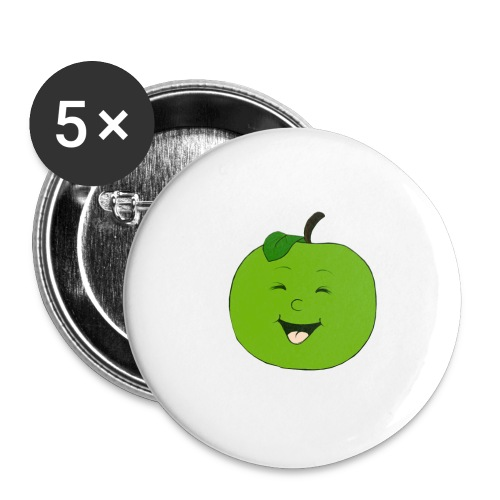 Apfel - Buttons klein 25 mm (5er Pack)
