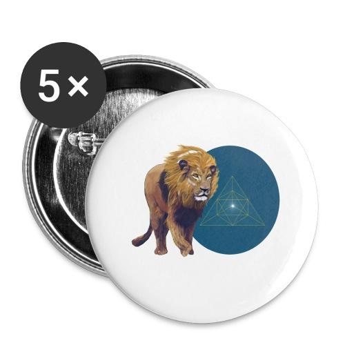 Löwe - Buttons klein 25 mm (5er Pack)