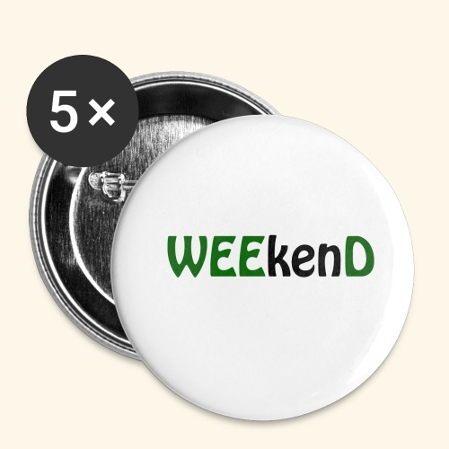 weed - Buttons klein 25 mm (5er Pack)