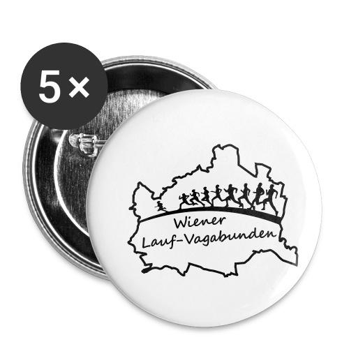 Laufvagabunden T Shirt - Buttons klein 25 mm (5er Pack)