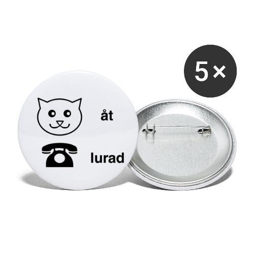 Katt åt telefon - Små knappar 25 mm (5-pack)