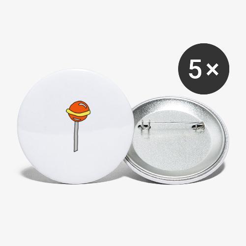 sucette mars - Lot de 5 petits badges (25 mm)